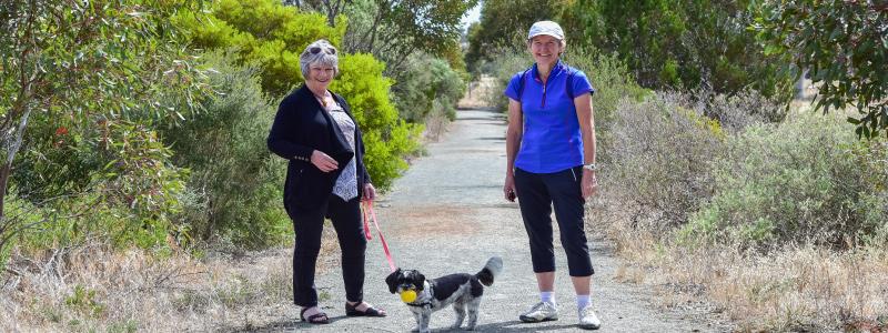 blyth - couple with dog